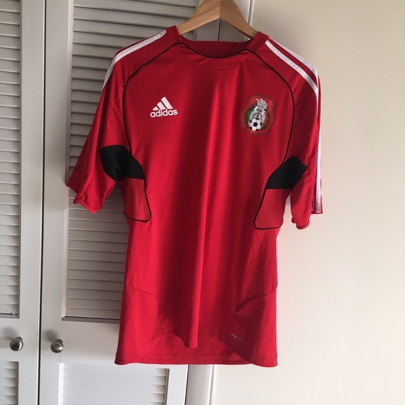 ef54c1d0a adidas Other - Red and black adidas soccer jersey